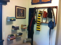 Hat Rack and Floating Bookshelves