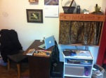 Desk and TV Cabinet