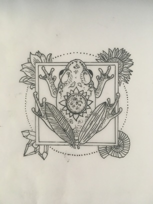 The final design submitted to the artist.